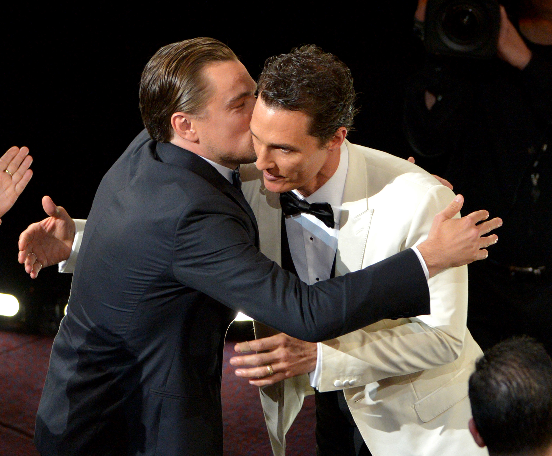 Leonardo DiCaprio Matthew McConaughey Oscars