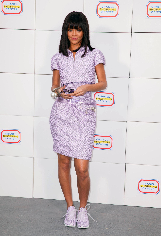Rihanna purple outfit
