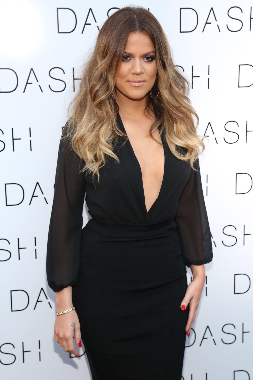 khloe kardashian black dress
