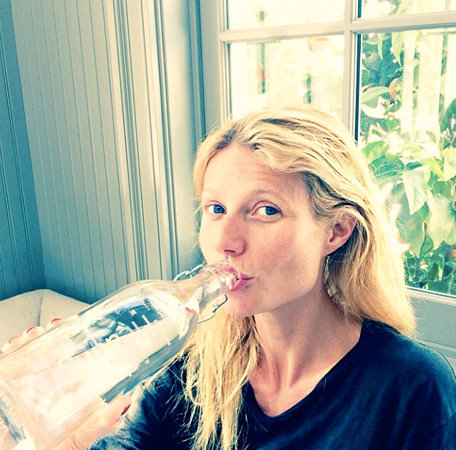 Gwyneth Paltrow makeup free water