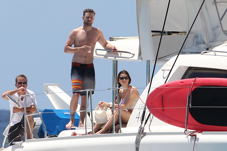 justin timberlake jessica biel yacht