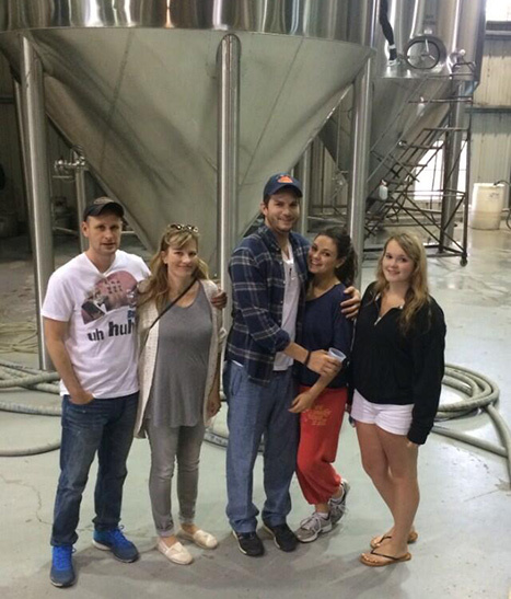 Ashton Kutcher Mila Kunis Abita beer