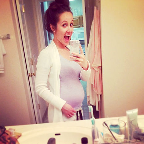 Ashley Hebert baby bump
