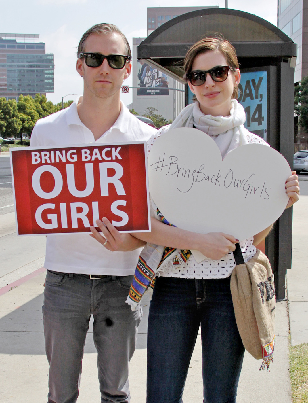 anne hathaway rally for girls
