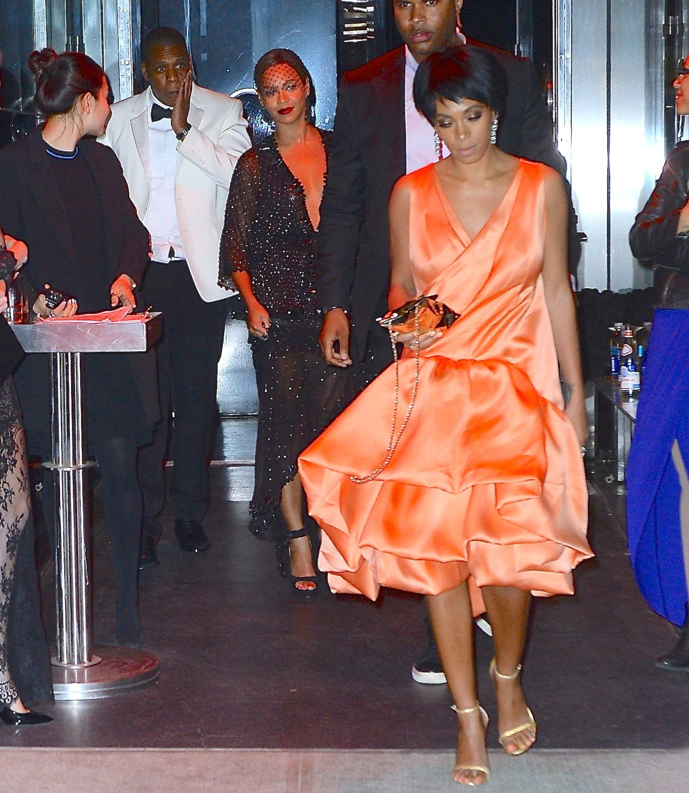 Beyonce, Jay Z and Solange Knowles