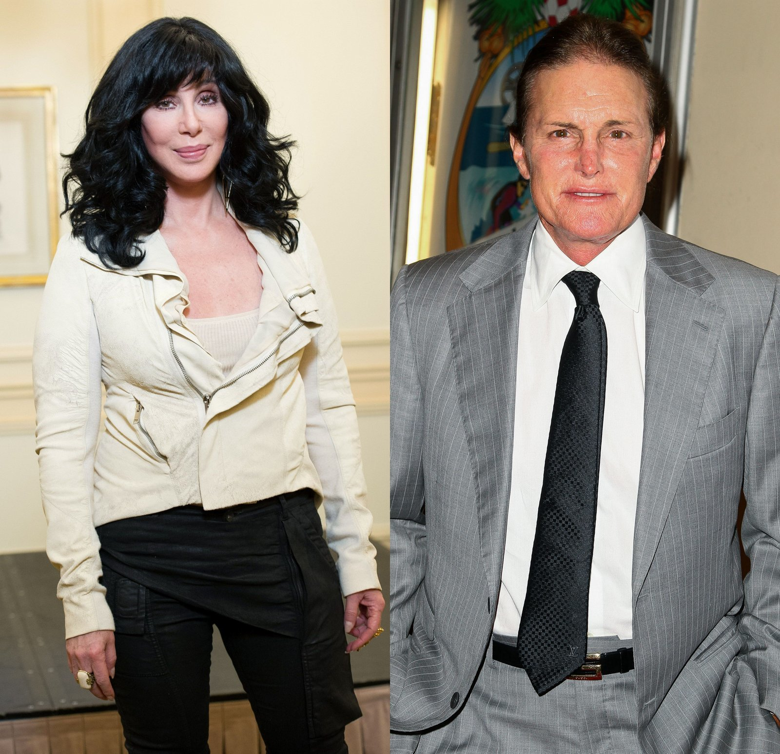 Cher and Bruce Jenner