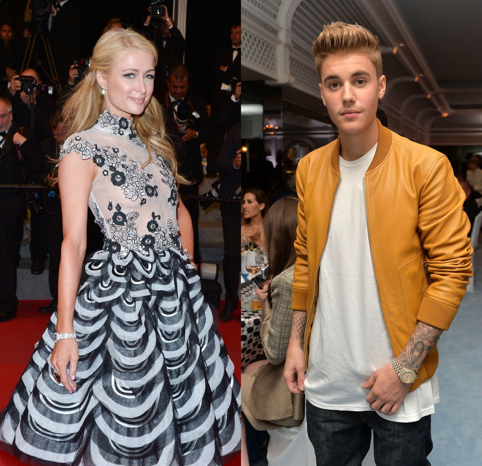 Justin Bieber and Paris Hilton