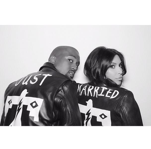 kim kanye just married
