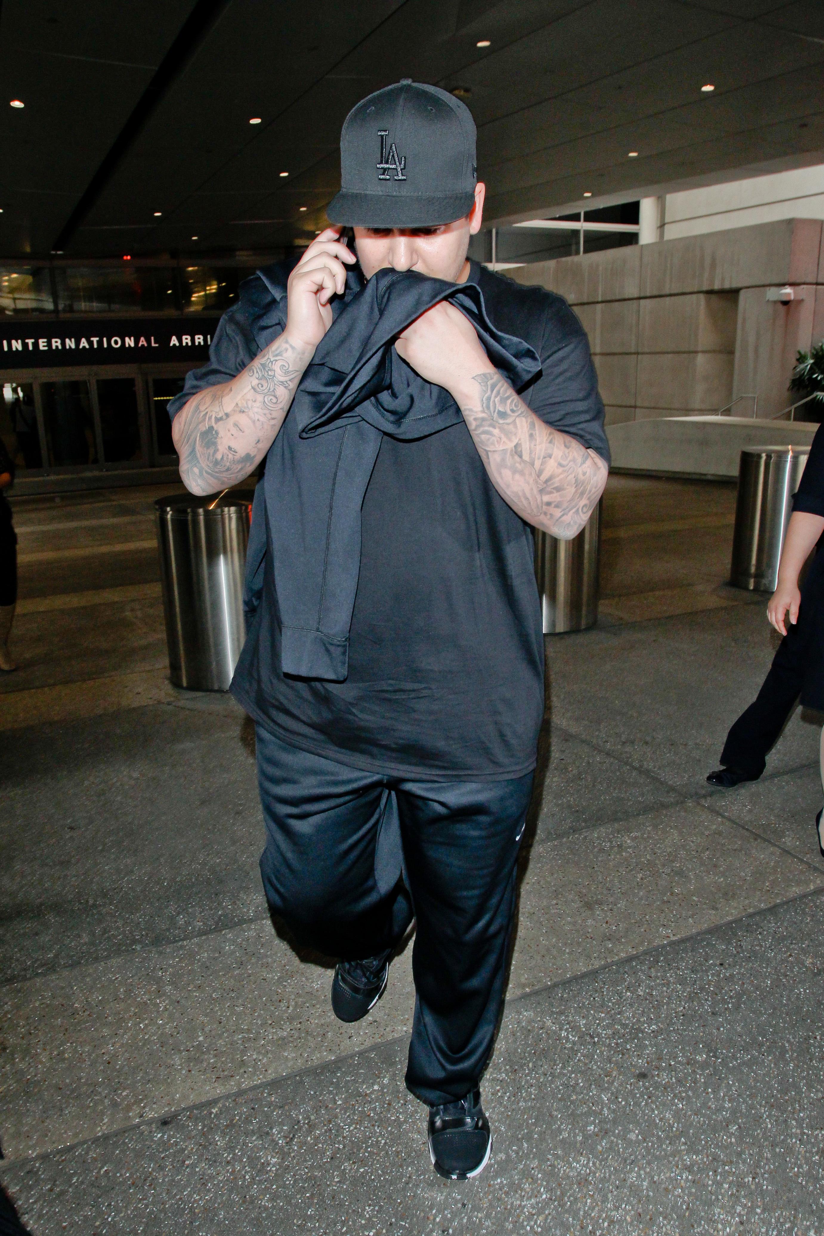 Rob Kardashian LAX