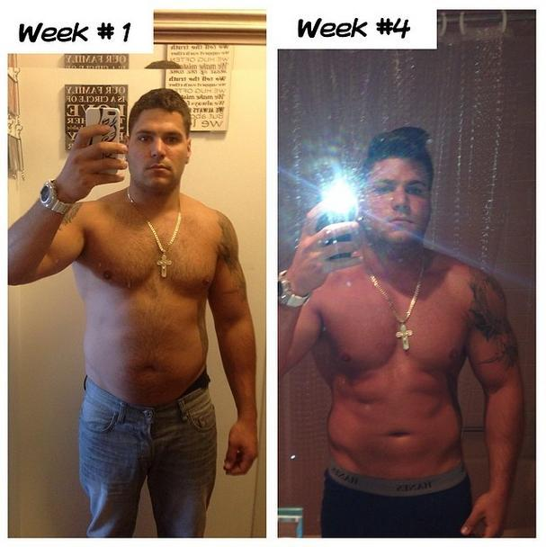 ronnie magro instagram weight loss