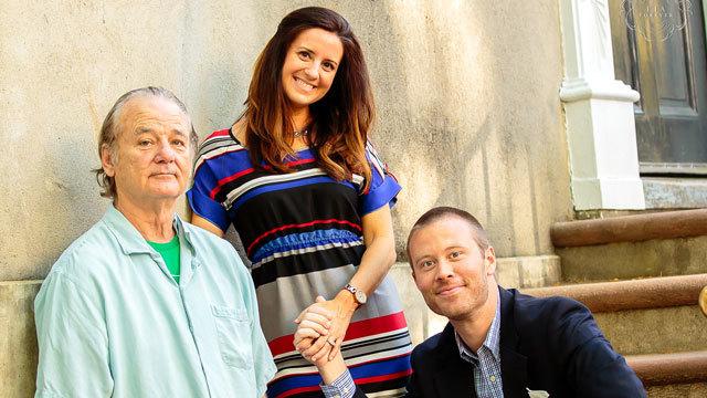 Bill Murray photobomb engaged couple