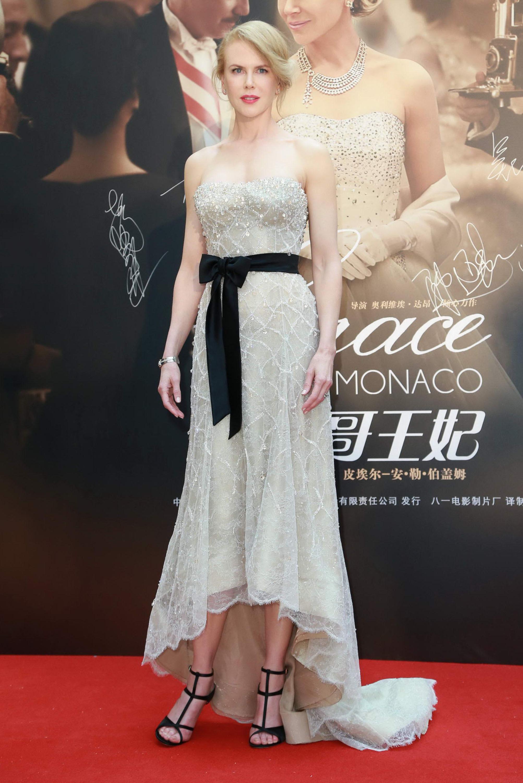 Nicole Kidman beaded dress black sash