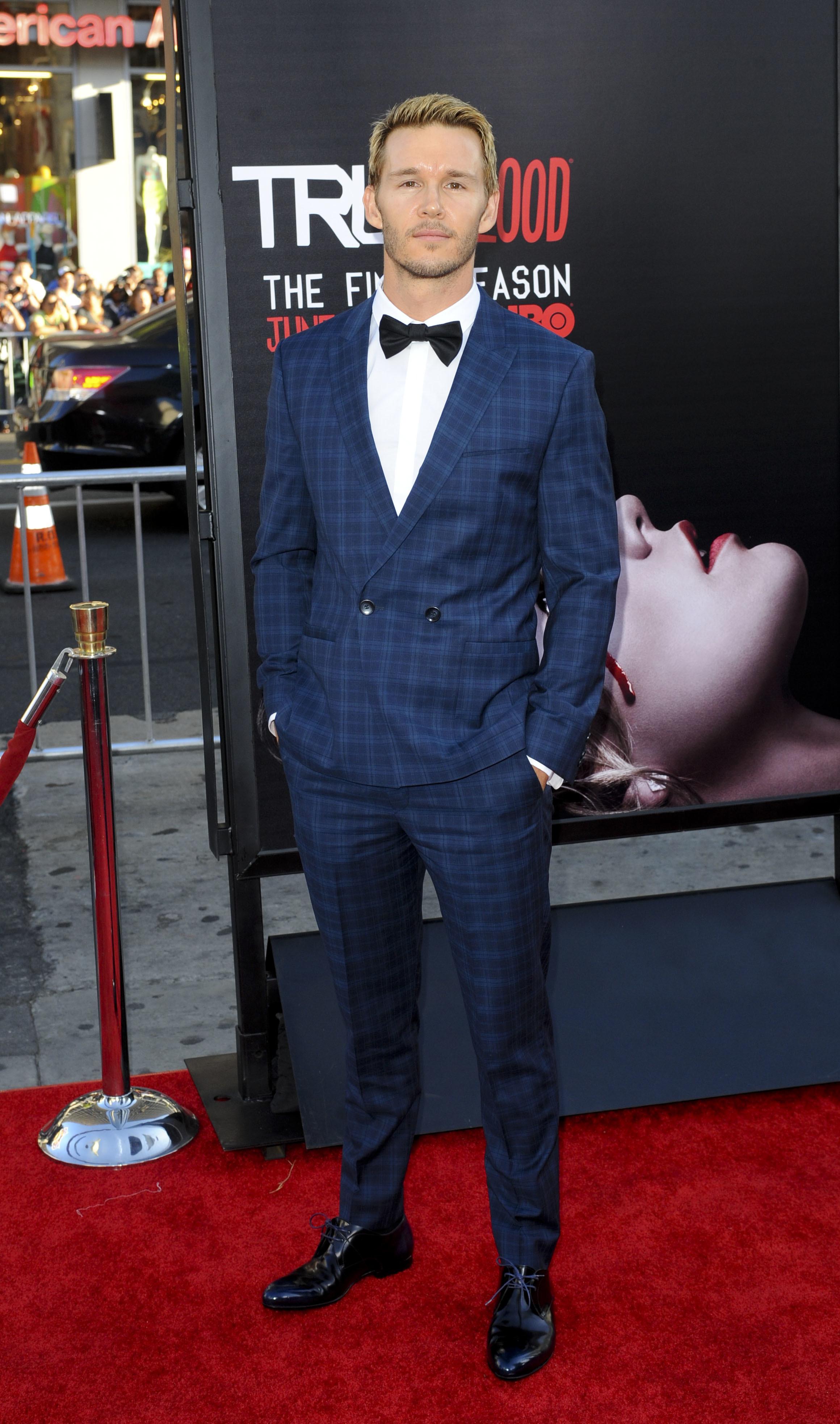 """Ryan Kwanten attends the season premiere of """"True Blood"""" in Los Angeles on June 17, 2014."""