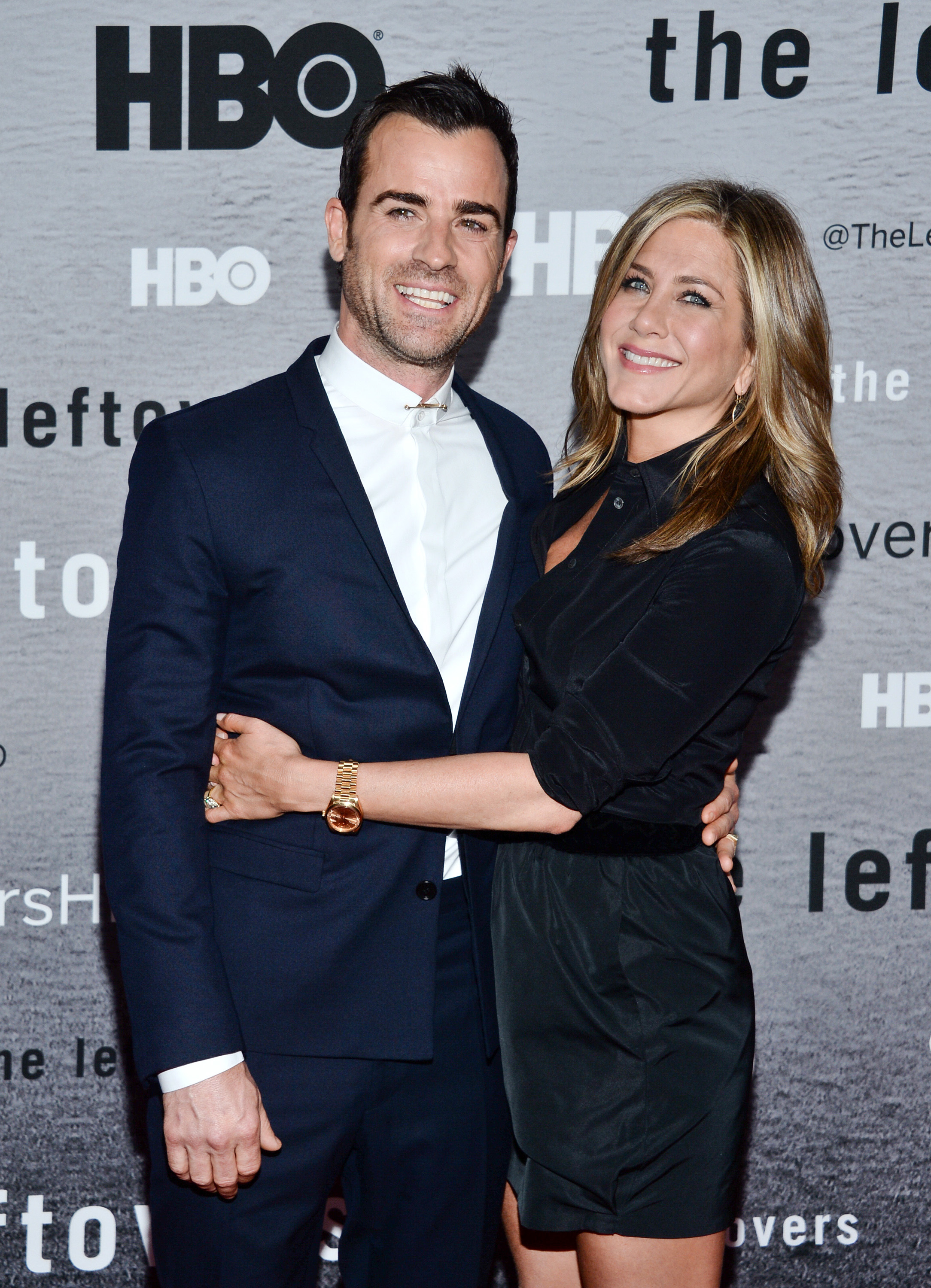 justin theroux jennifer aniston smiles