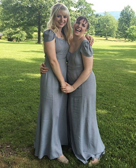 lena dunham bridesmaid