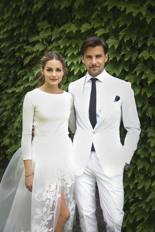 Olivia Palermo wedding dress husband Johannes Huebl