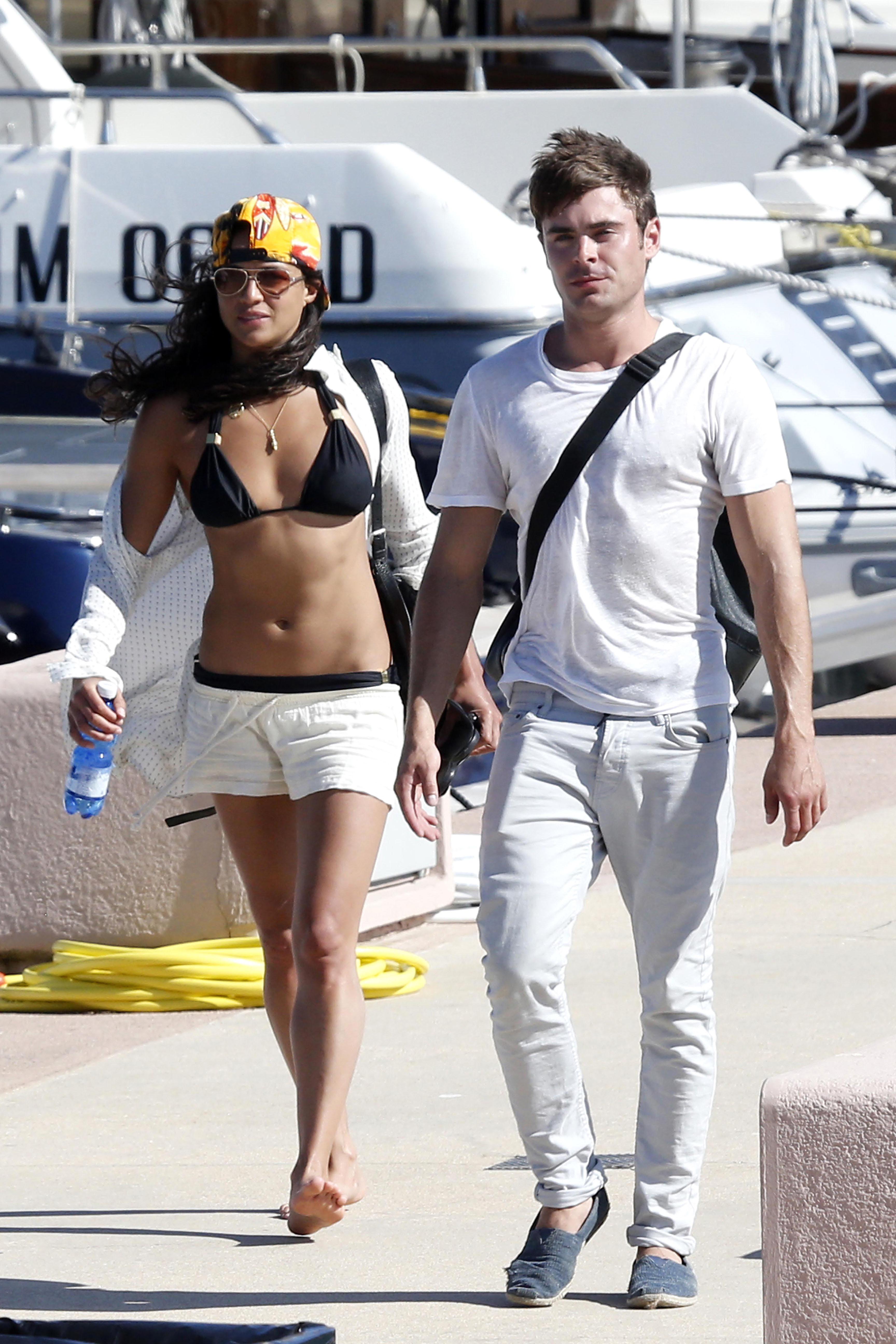 Michelle Rodriguez Zac Efron vacation