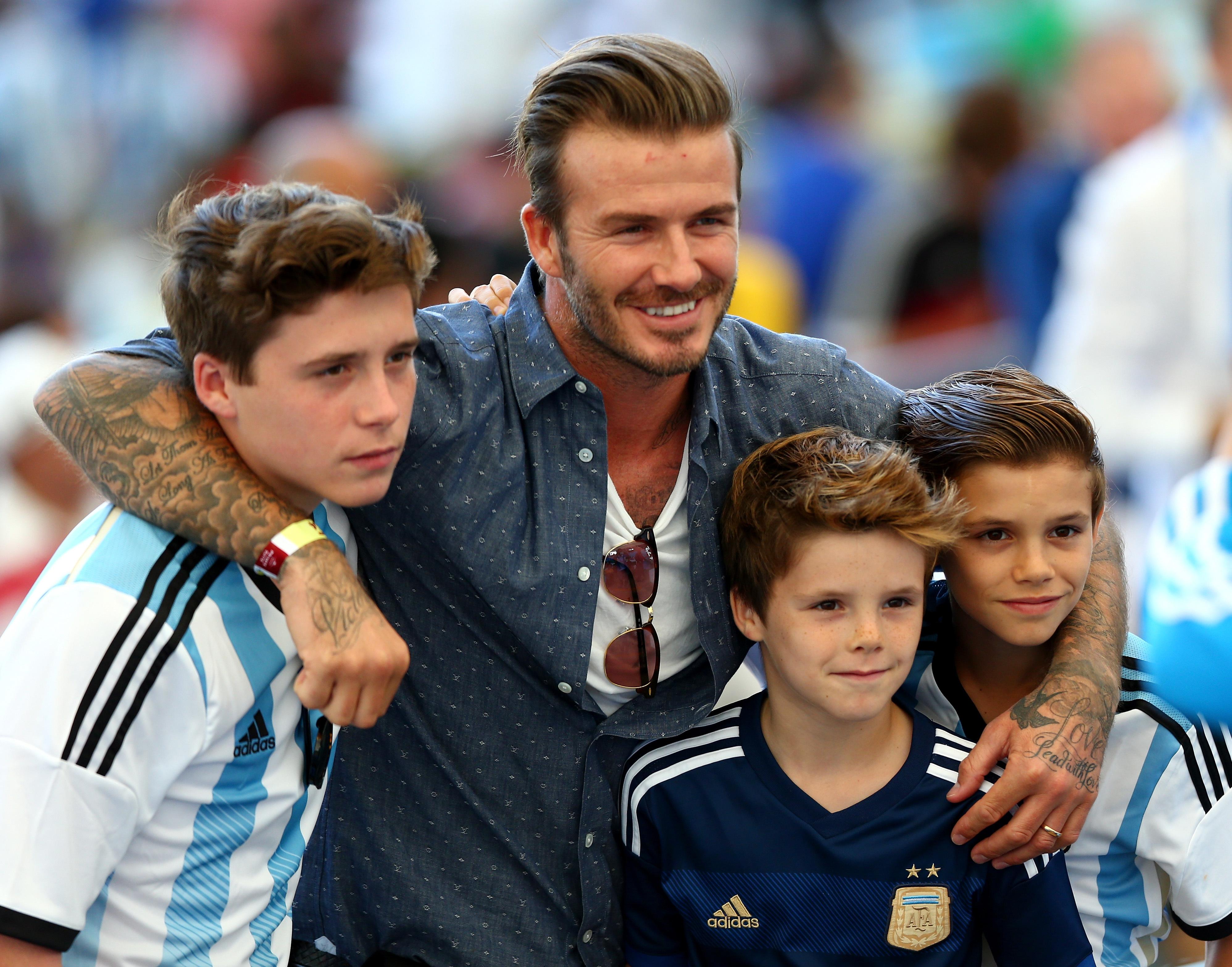 David Beckham sons