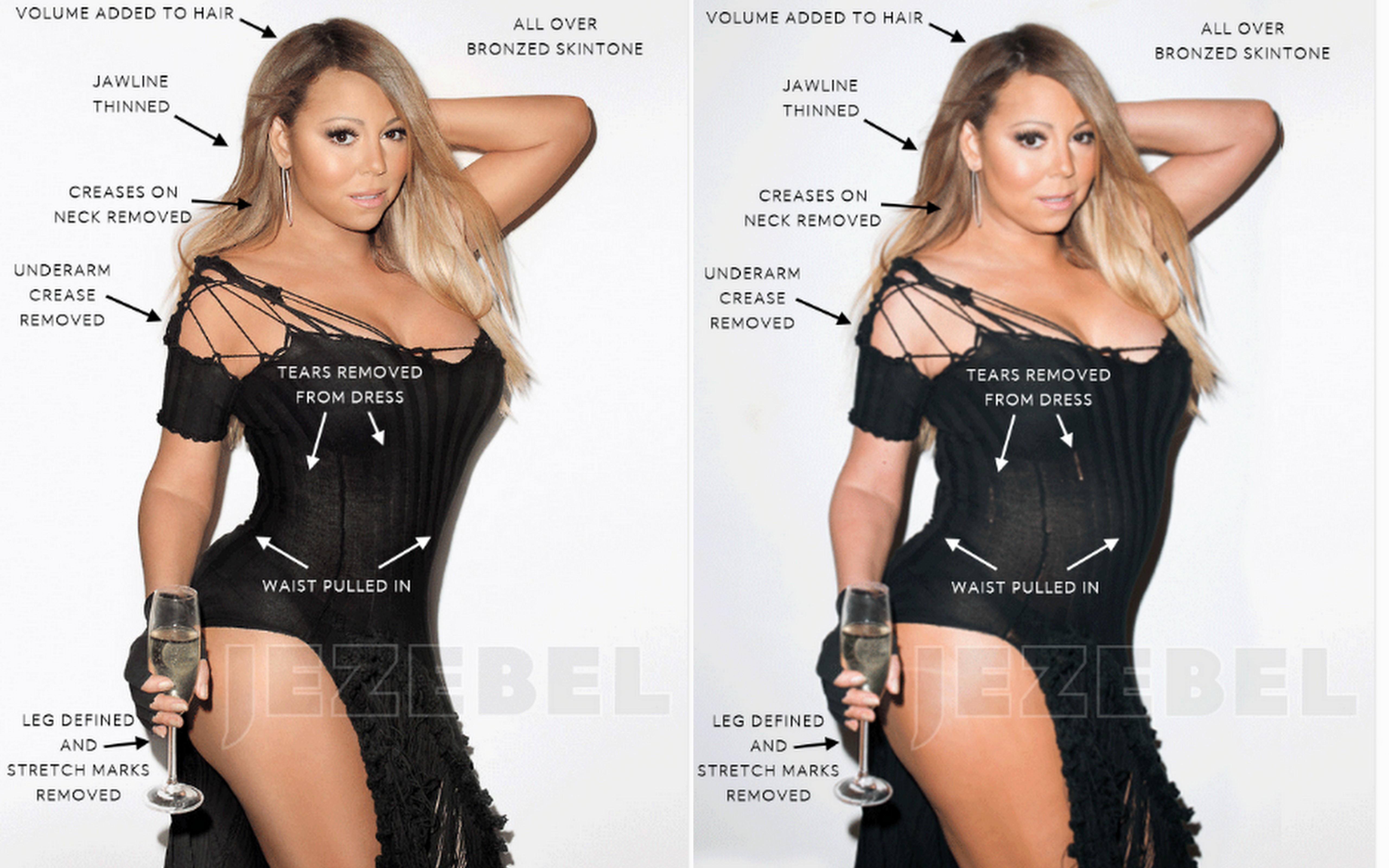 Mariah Carey retouched pics