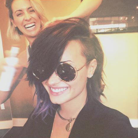 Demi Lovato haircut