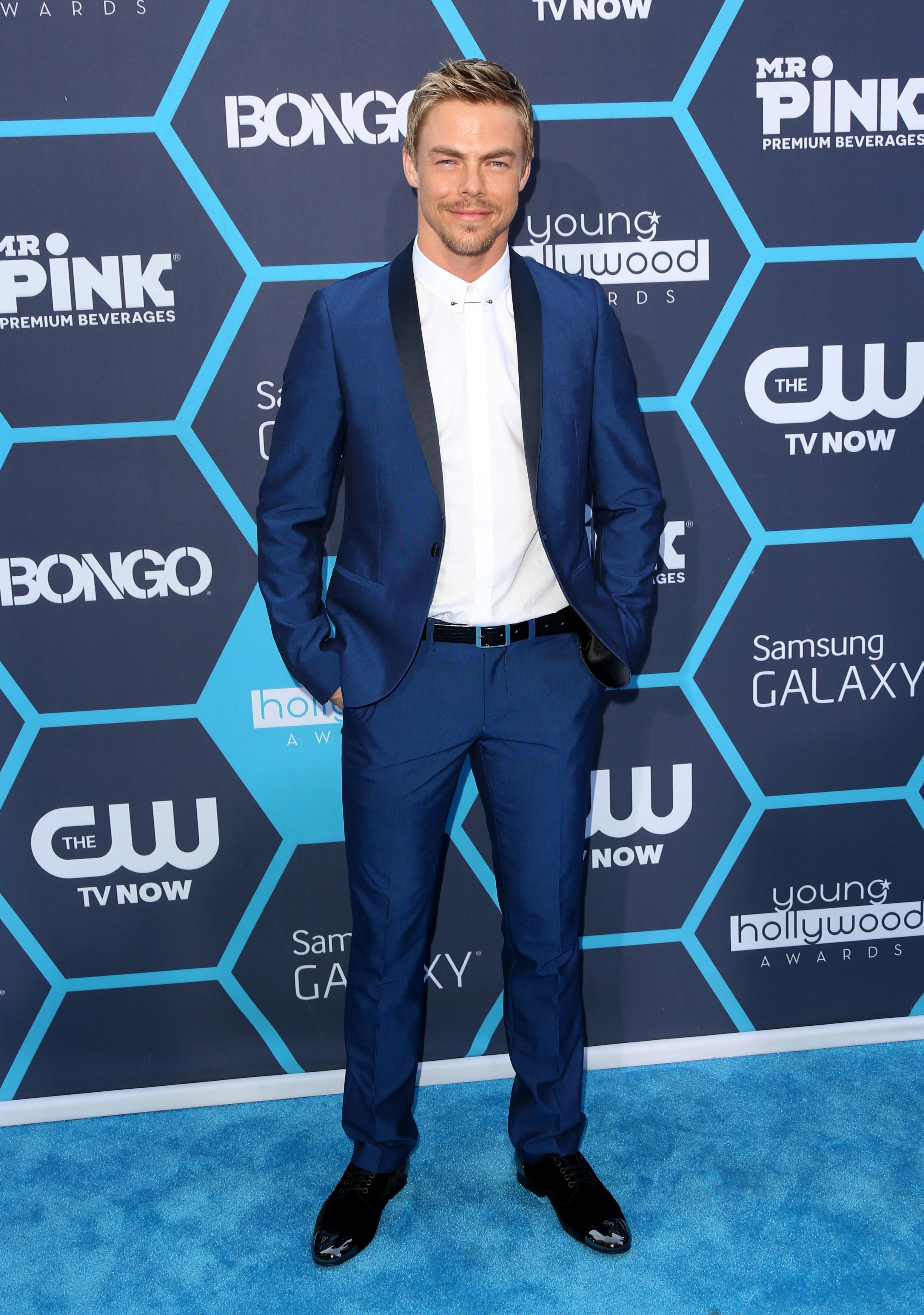 Derek Hough blue suit