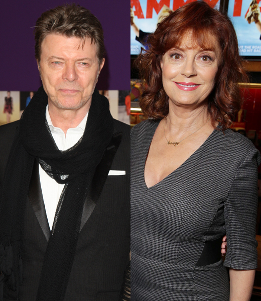 Susan Sarandon stays mum on David Bowie relationship details