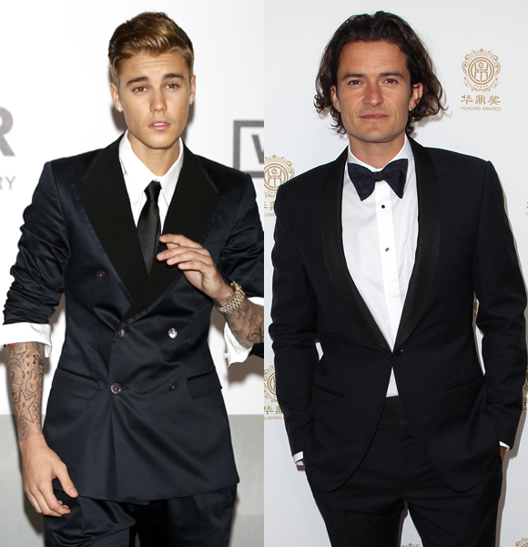 Are Justin Bieber and Orlando Bloom having a nude photo off?