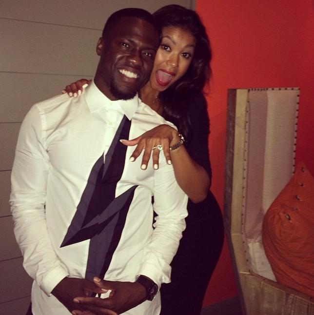 Kevin Hart engagement ring Eniko Parrish