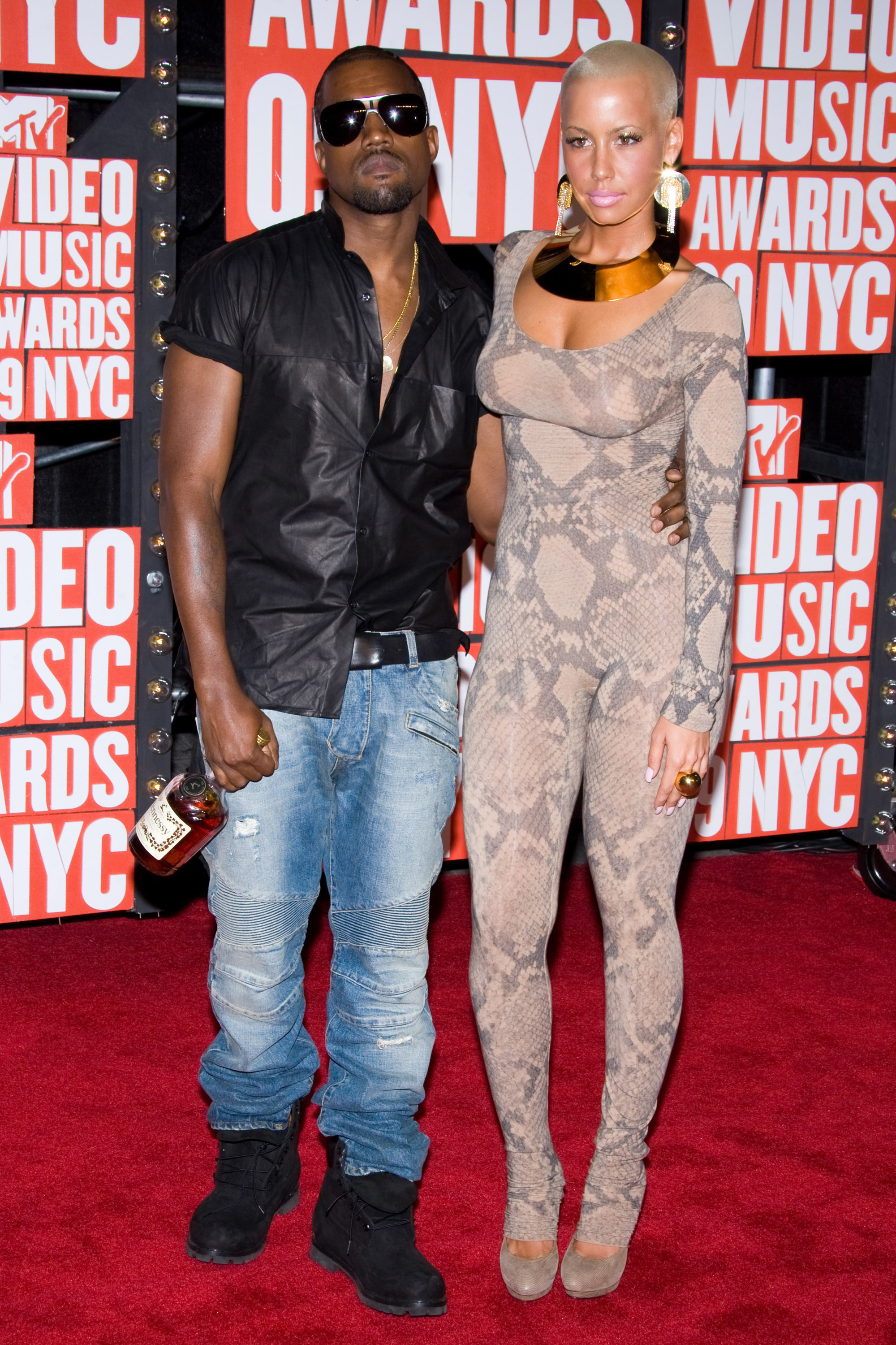 kanye west and amber rose vmas