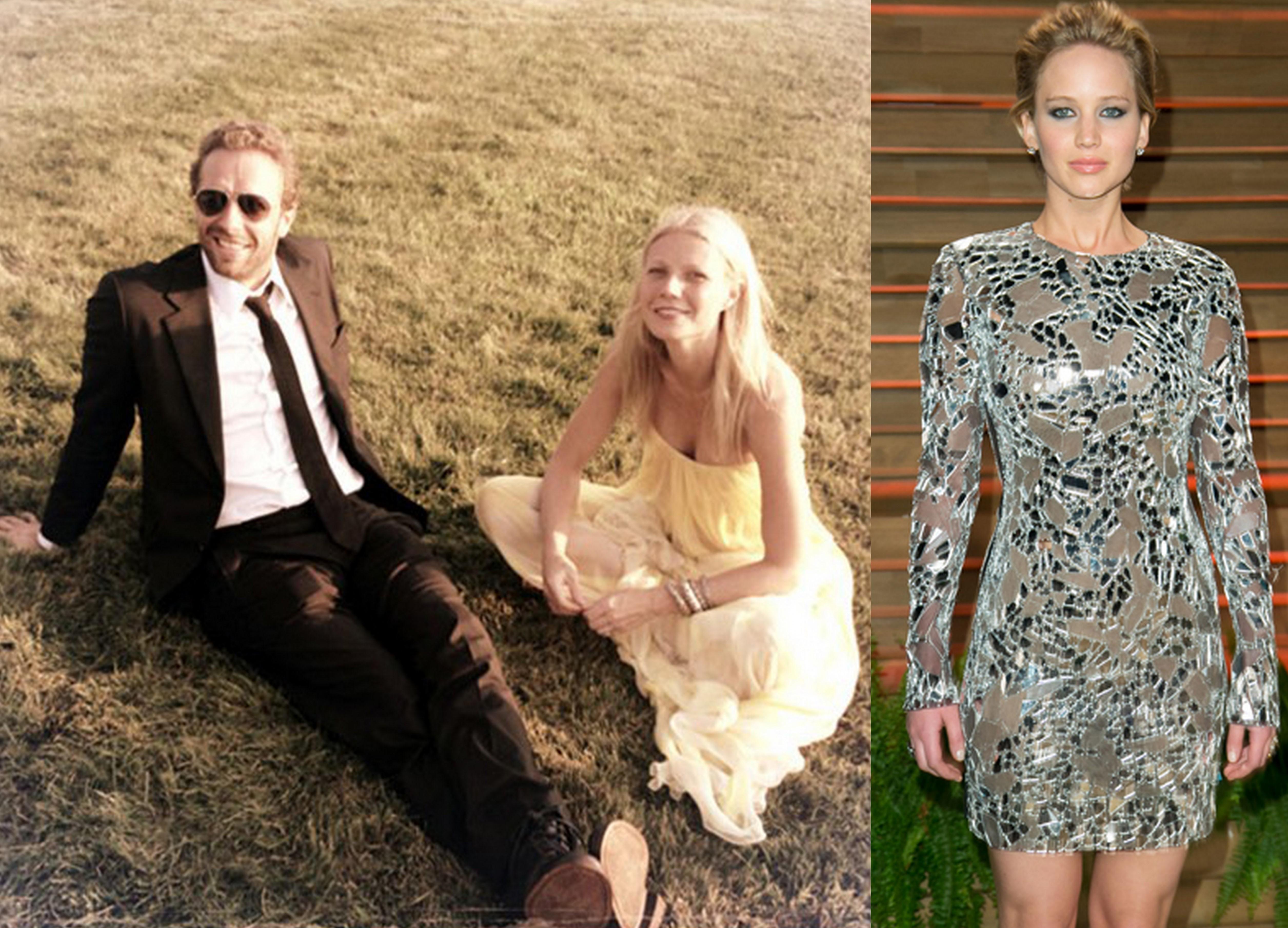 Chris Martin Gwyneth Paltrow Jennifer Lawrence