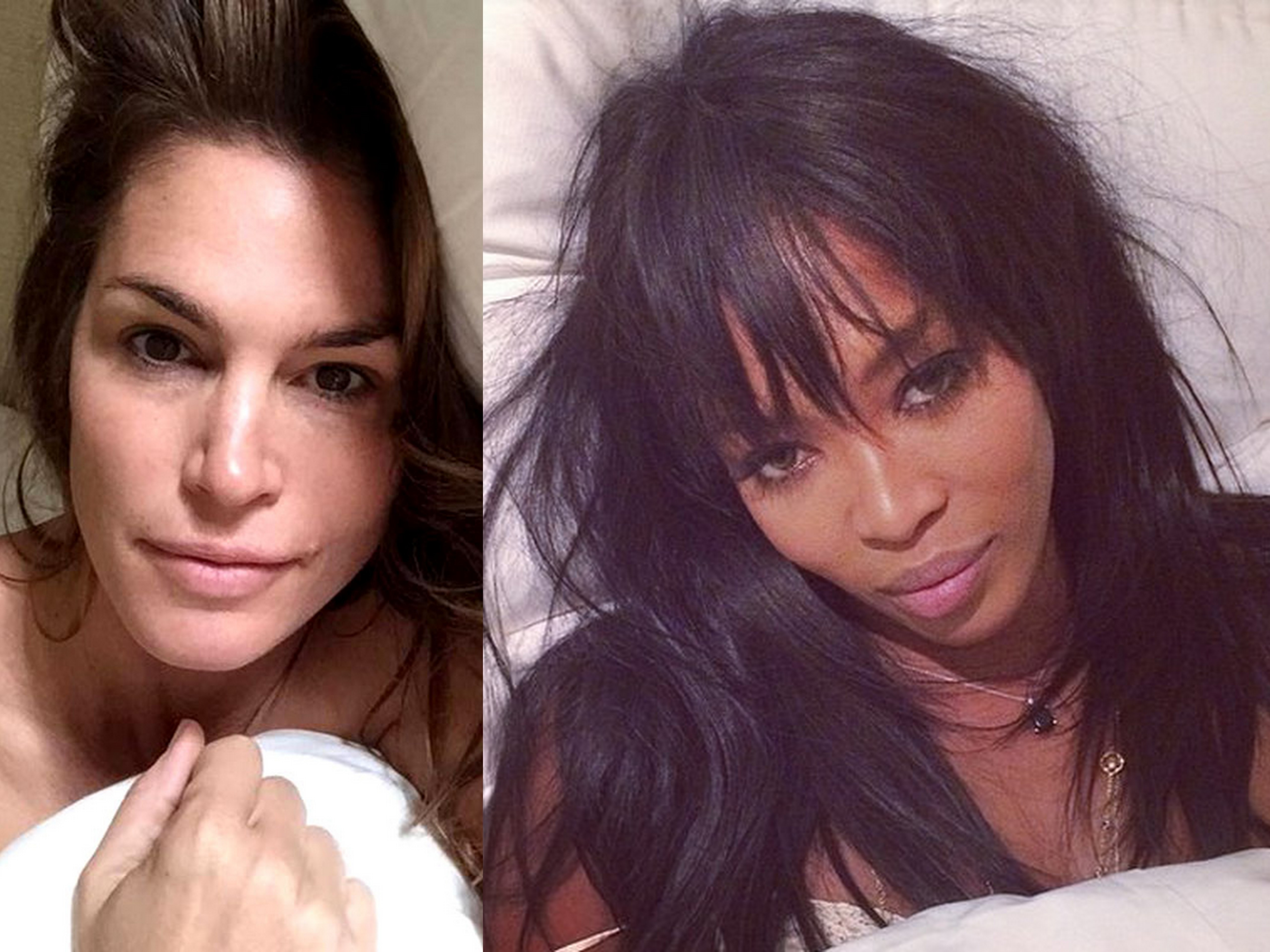 Cindy Crawford, more models go makeup free for a good cause