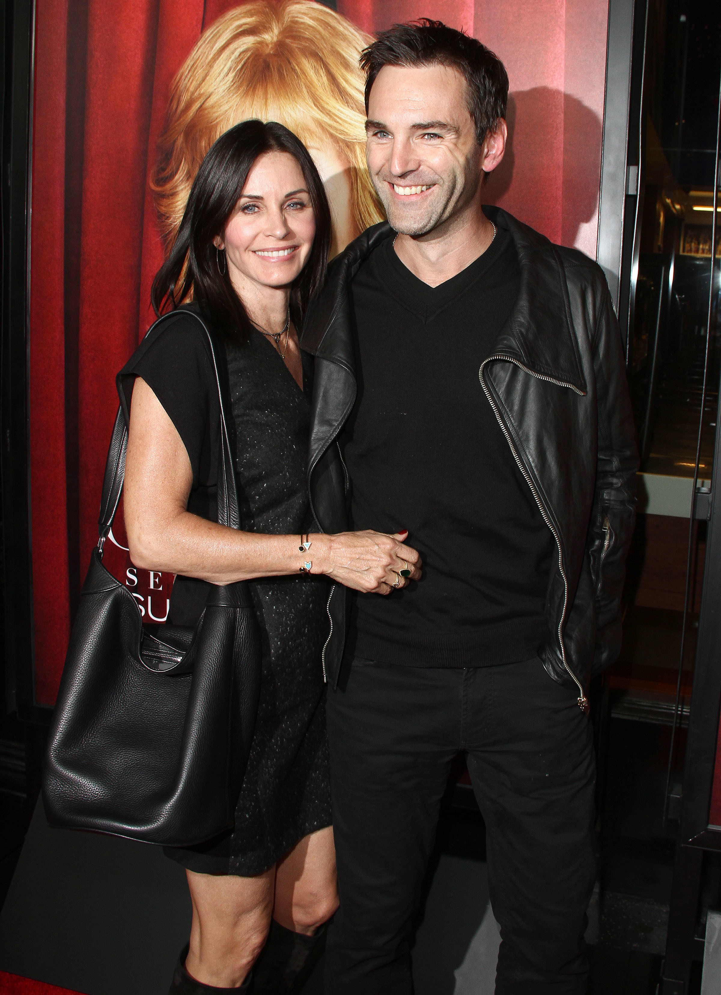 Courteney Cox and Johnny McDaid share a sweet goodbye