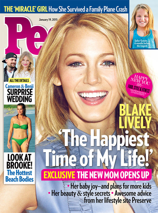 Blake Lively gives her first interview since becoming a mom