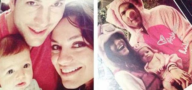 Mila Kunis, Ashton Kutcher and baby Wyatt's holiday card leaks online