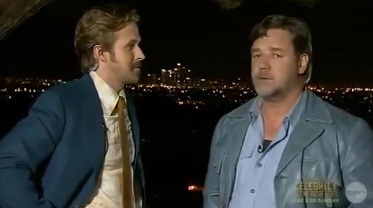Ryan Gosling crashes Russell Crowe's Australian Academy Awards speech