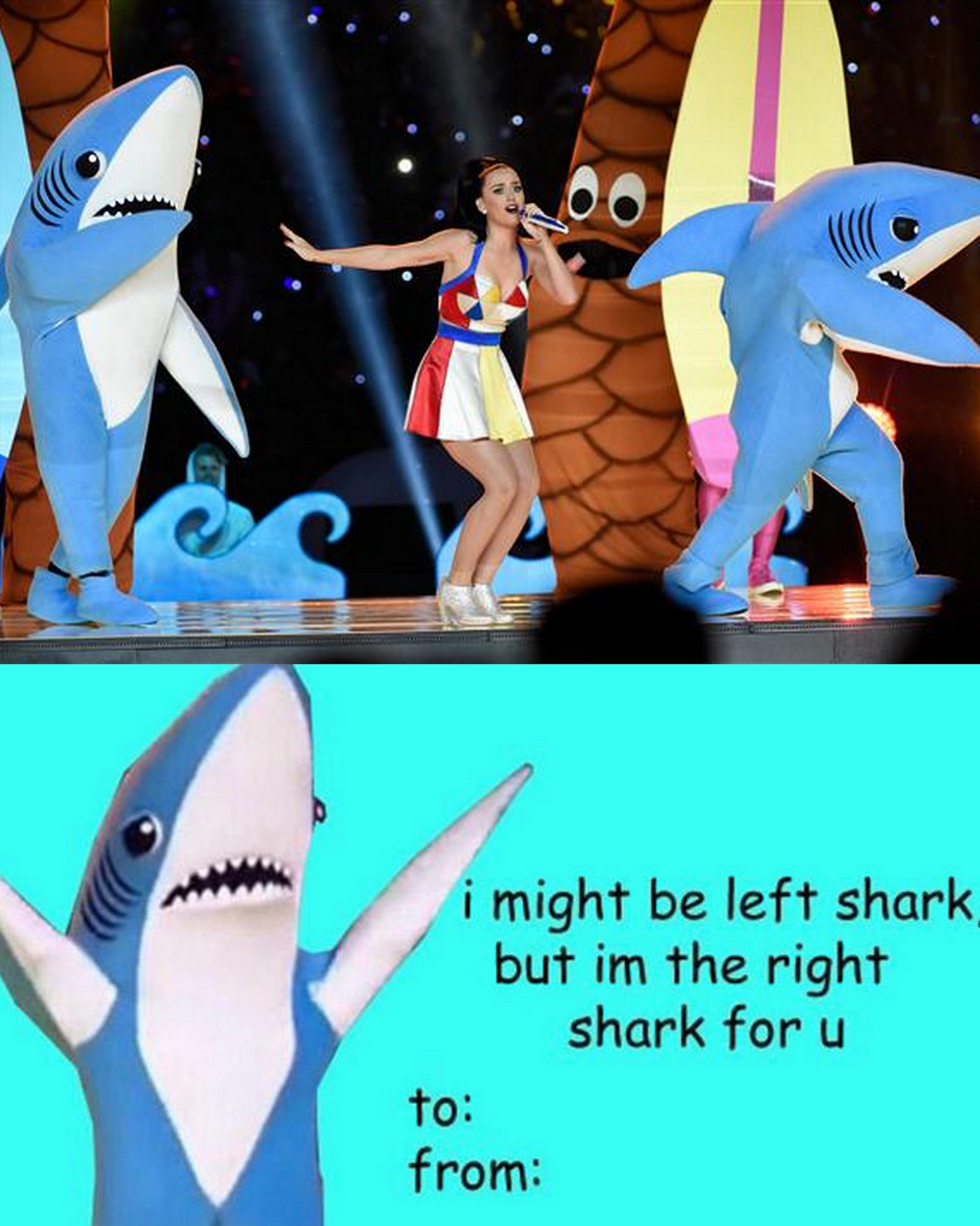 Katy Perry's Left Shark stars in his own Valentine's Day card