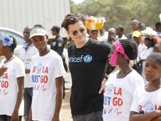 Orlando Bloom visits Liberia amid Ebola outbreak
