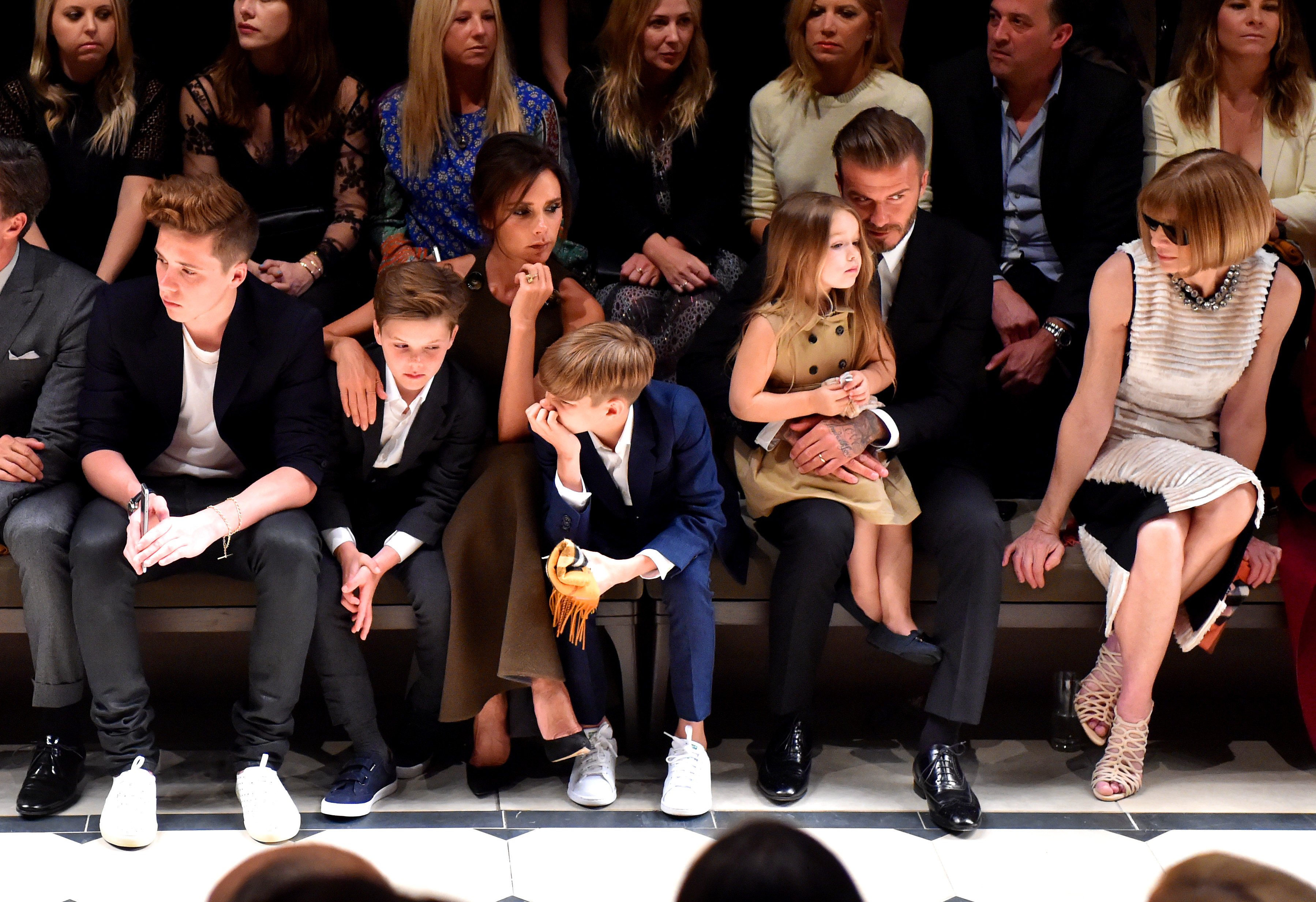 The entire Beckham family hits Burberry