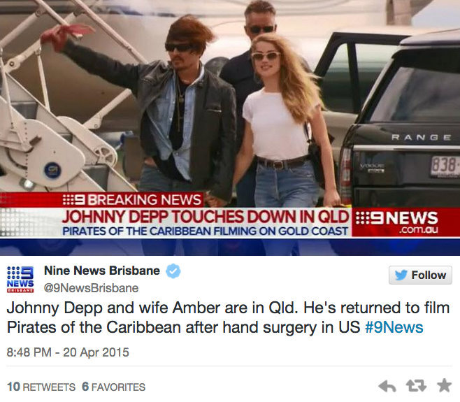 Johnny Depp, Amber Heard are spotted together for the first time in months