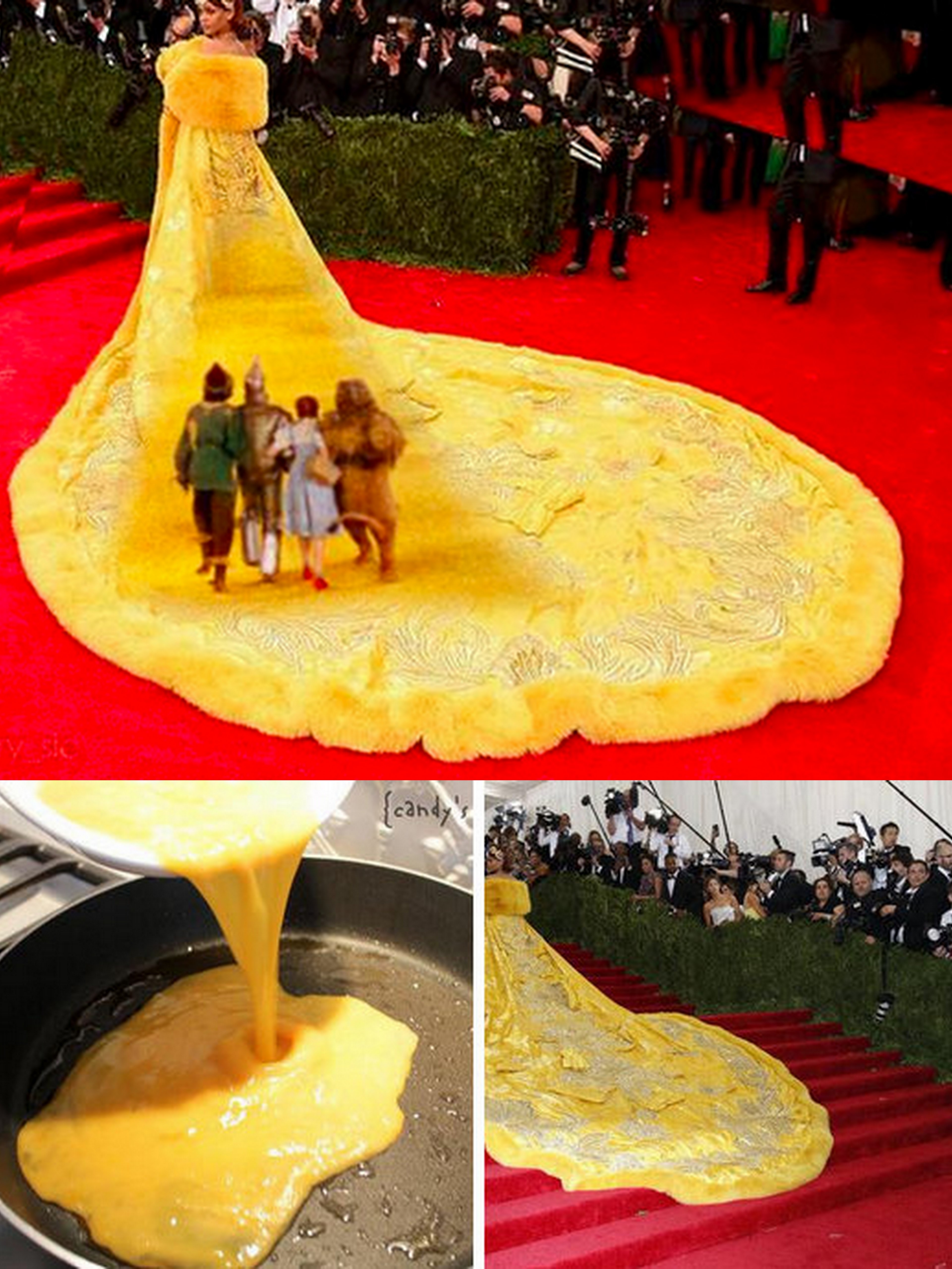 Rihanna's Met Gala gown becomes the meme iest thing online