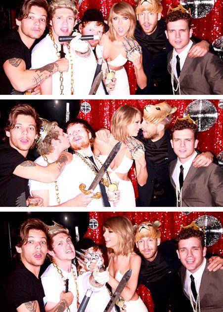 Taylor Swift celebrates Billboard wins with Calvin Harris, Ed Sheeran, 1D