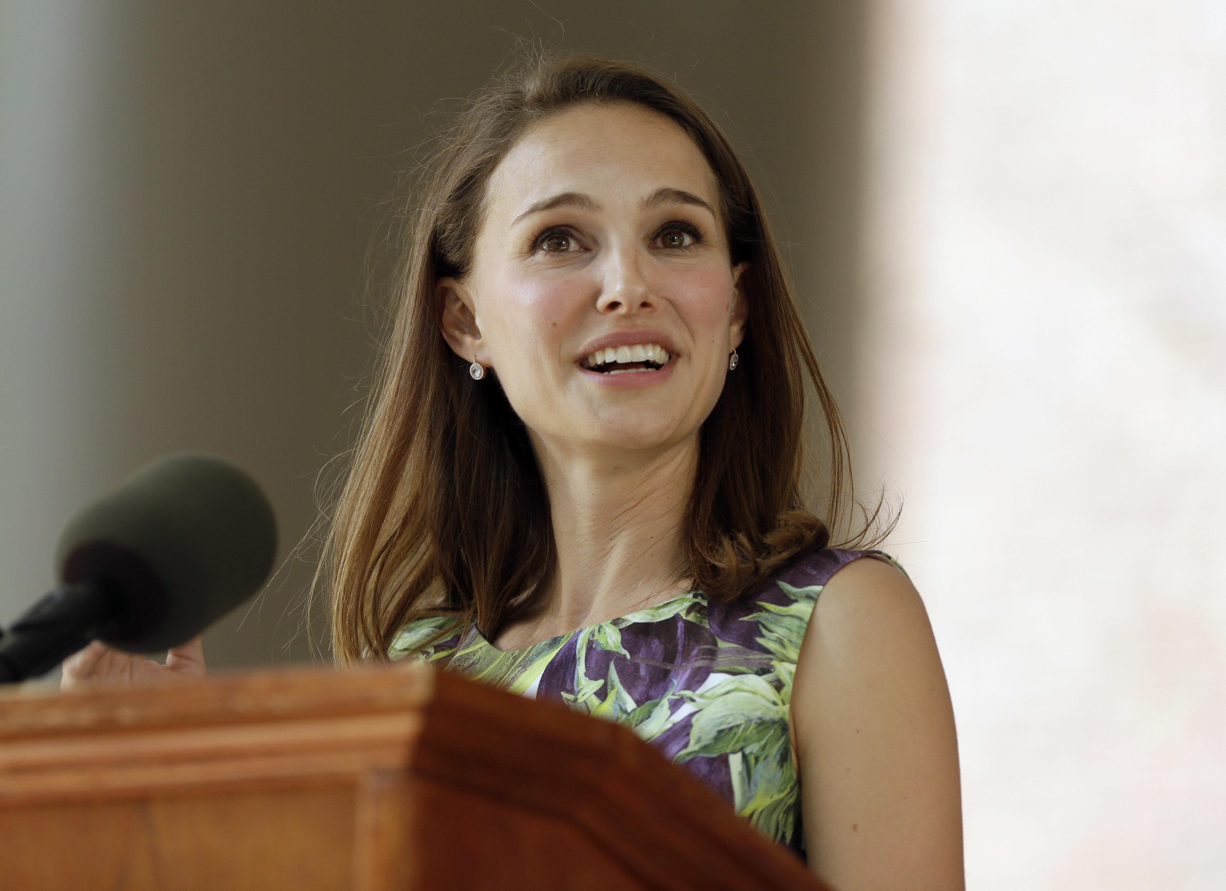 Natalie Portman reveals dark times in Harvard speech