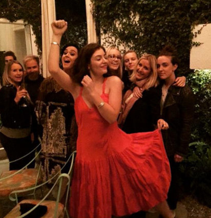 Taylor Swift besties Ellie Goulding and Lorde party with Katy Perry