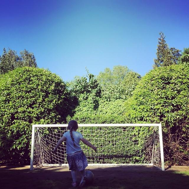 Harper Beckham: Future soccer star?