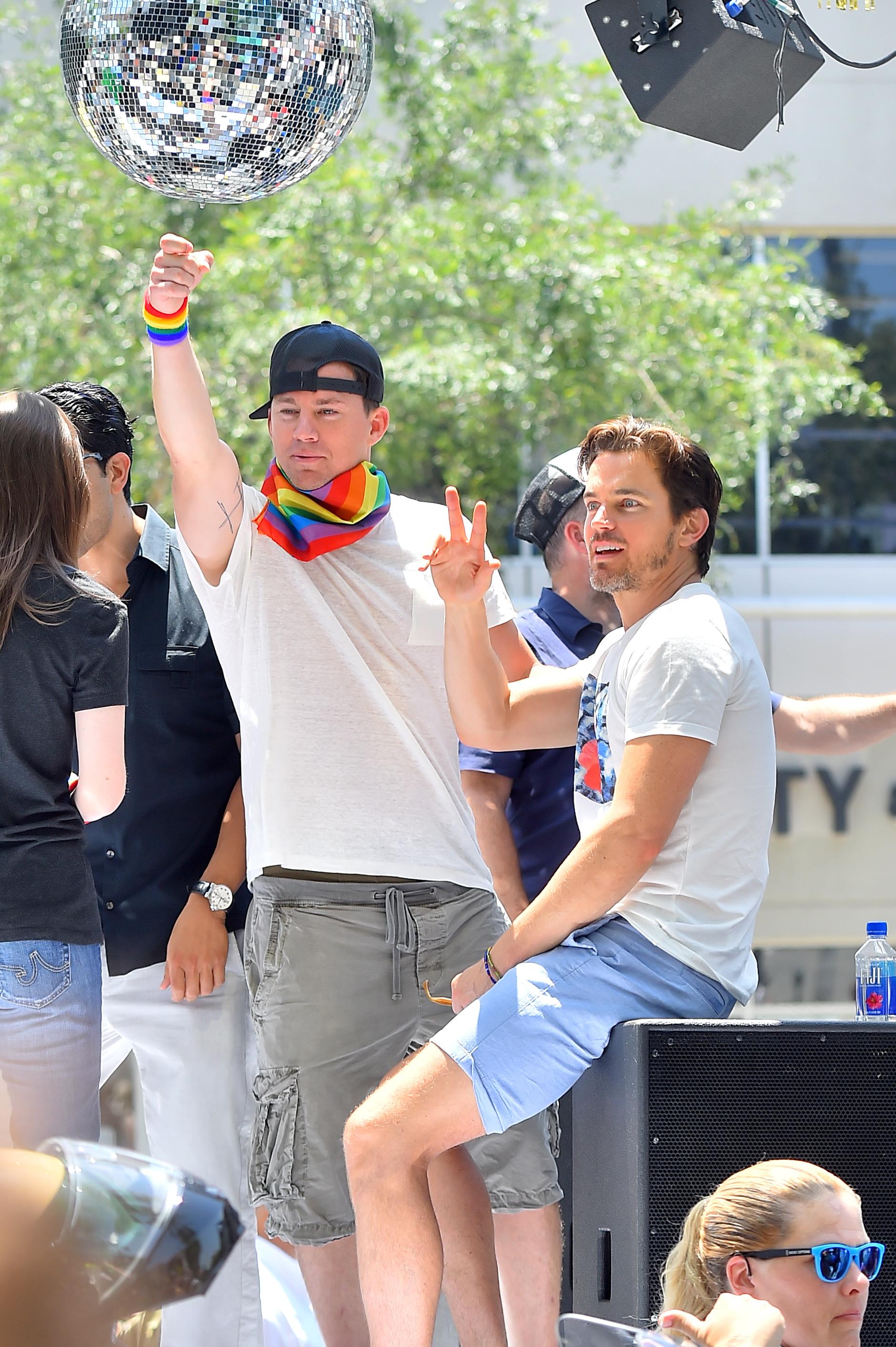 Channing Tatum makes Matt Bomer blush
