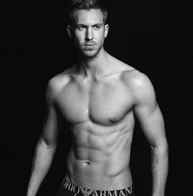 Calvin Harris is out as an Armani underwear model