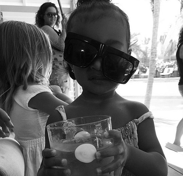 Behold, North West's latest Instagram glam