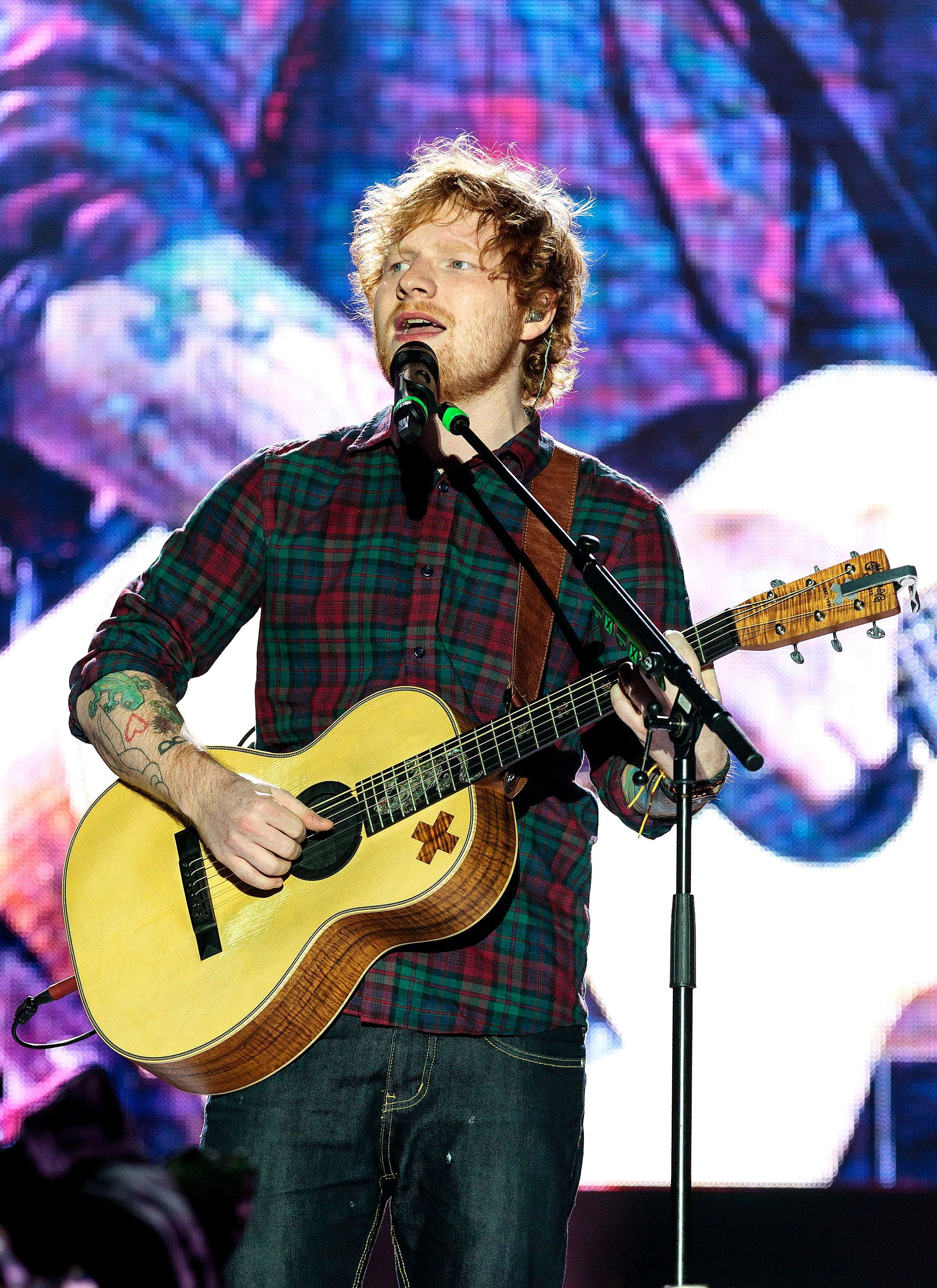 Ed Sheeran performs for the first time in a year