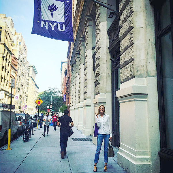 Karlie Kloss shares a photo from her first day of college