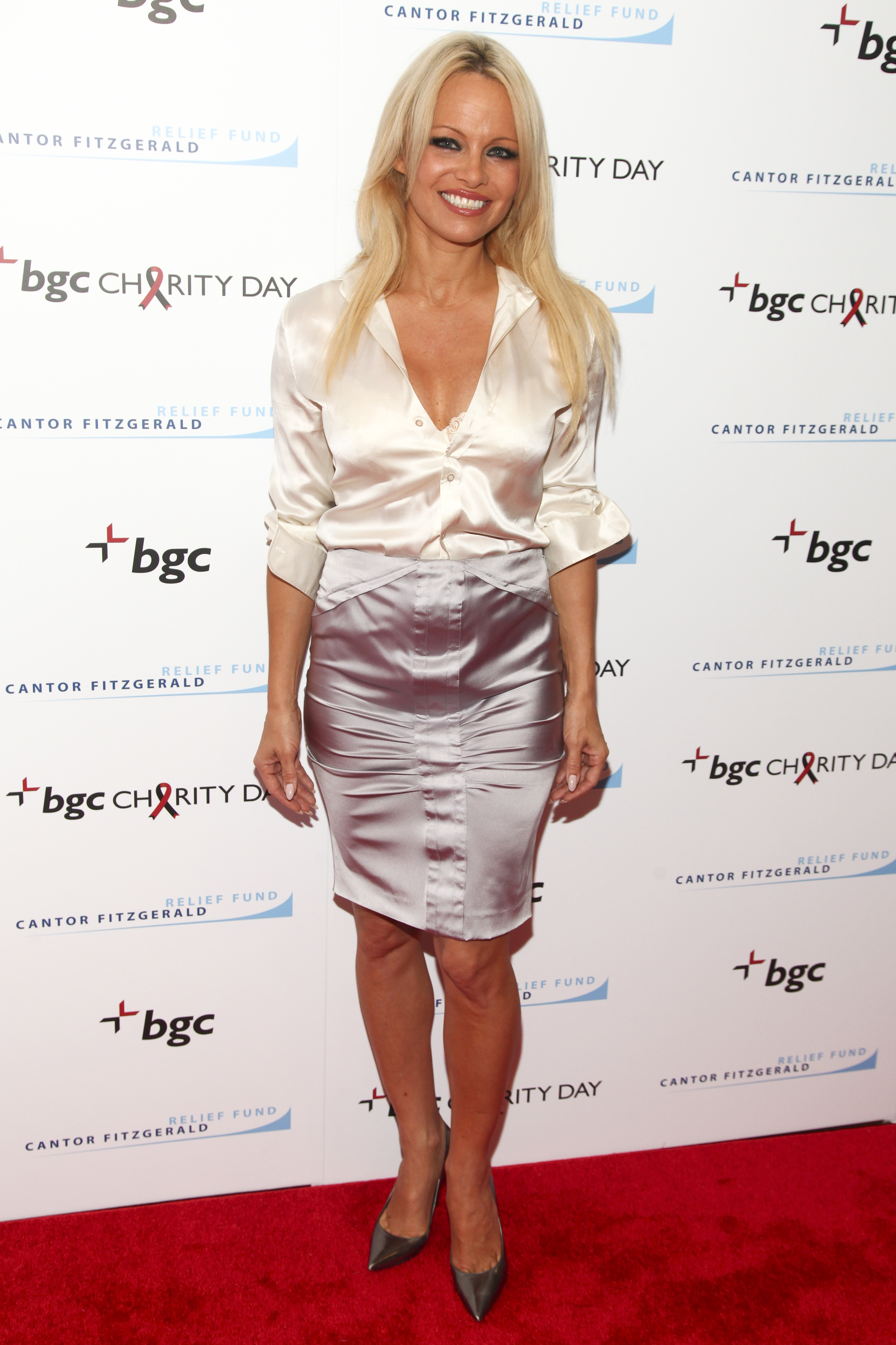 Pamela Anderson is saving the world, one glittered shoe at a time